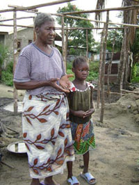 Ma Demowa with her grandchild Bindu