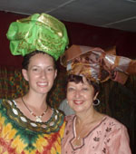 Layna McArthur and Karen Barkman are crowned at ABC Church in Ghana (click to enlarge)