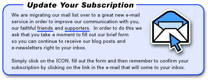 Please update your e-mail subscription with Provision of Hope