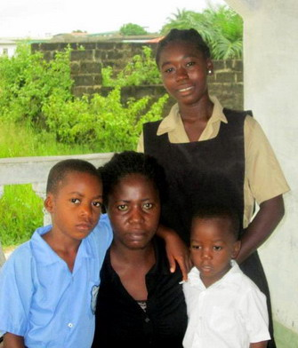 Christiana with younger children 4