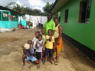 Happy Family plays soccer