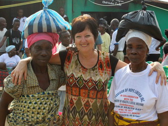 Widows are happy to receive their rice