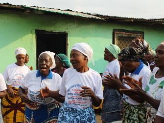 Widows sing and dance