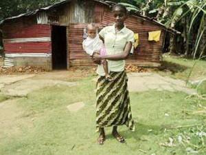 Felecia Nyenewan and Baby Karen