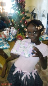 Ruth Weah 2 gets her Christmas Gift