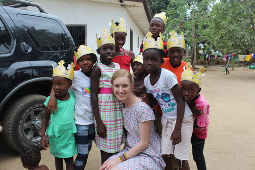 "Rachel Siemens taught the kids several new card games. We brought Burger King Crowns and taught them ""How God sees them as a Prince or a Princess"" They were a big hit! So was Rachel!!"