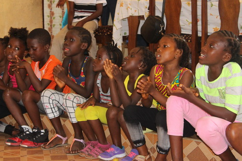 The children had a beautiful welcoming program for us. Their songs were amazing! They love to dance too.