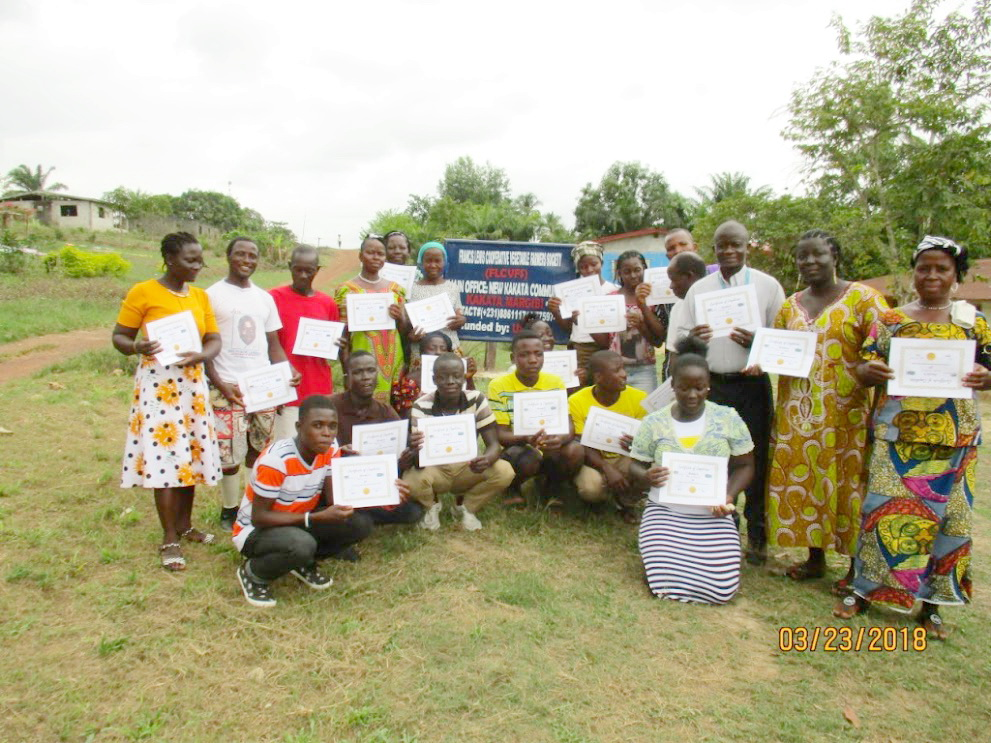 Organic Agriculture Training for 21 Farmers in Kakata.  They have so much land but were lacking tools and seeds.