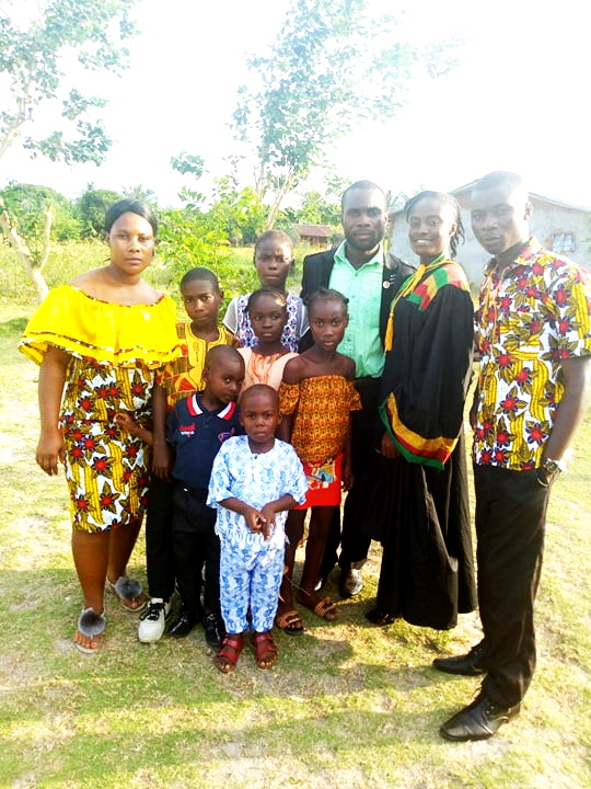 Here is a group photo of all the children Andrew and Rose are taking care of. These are the children of Andrew's late 2 sisters, along with Andrew's younger brother.  In 2013 Andrew was left with 8 children to take care of.  Both his sisters died 6 months apart. They each had 4 children. Andrew has sacrificed a lot in order to help them.  He cares for his elderly mother too. She also lives with them.