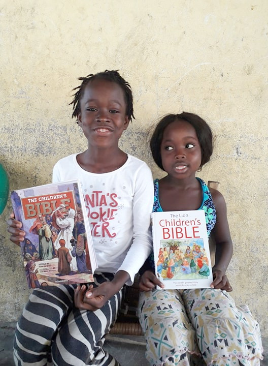 Ruth and Favor are delighted to receive their Bibles. Ruth skipped from Gr. 1 to Gr. 3 this year.  She is already reading!