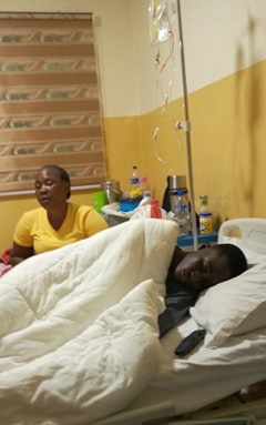Kamah has been staying with Tell while he receives treatment in hospital.