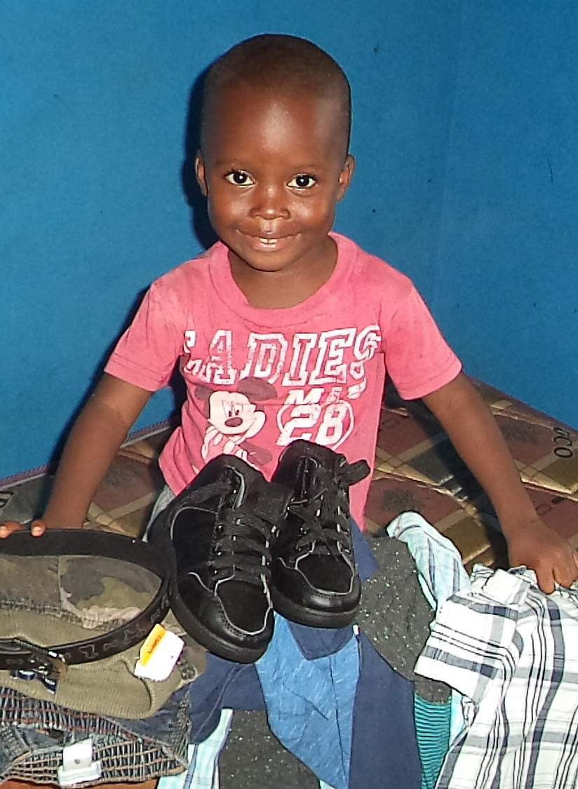Clothes for a Child,  $ 50  Buys a lot of clothes in Liberia.