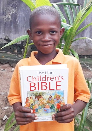 Buy a Child a Bible.  $ 15