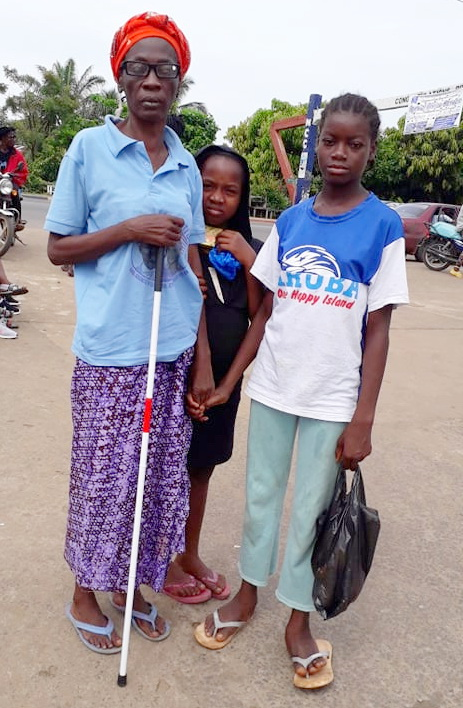 Children lead their parents to the streets. These children are not in school. Their parents are too poor.