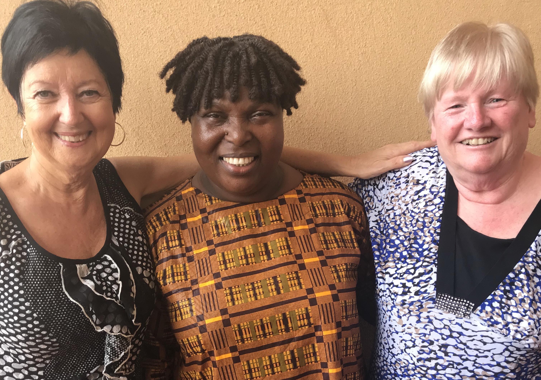Karen with Bishop Matilda Tarr and Mae Clowe