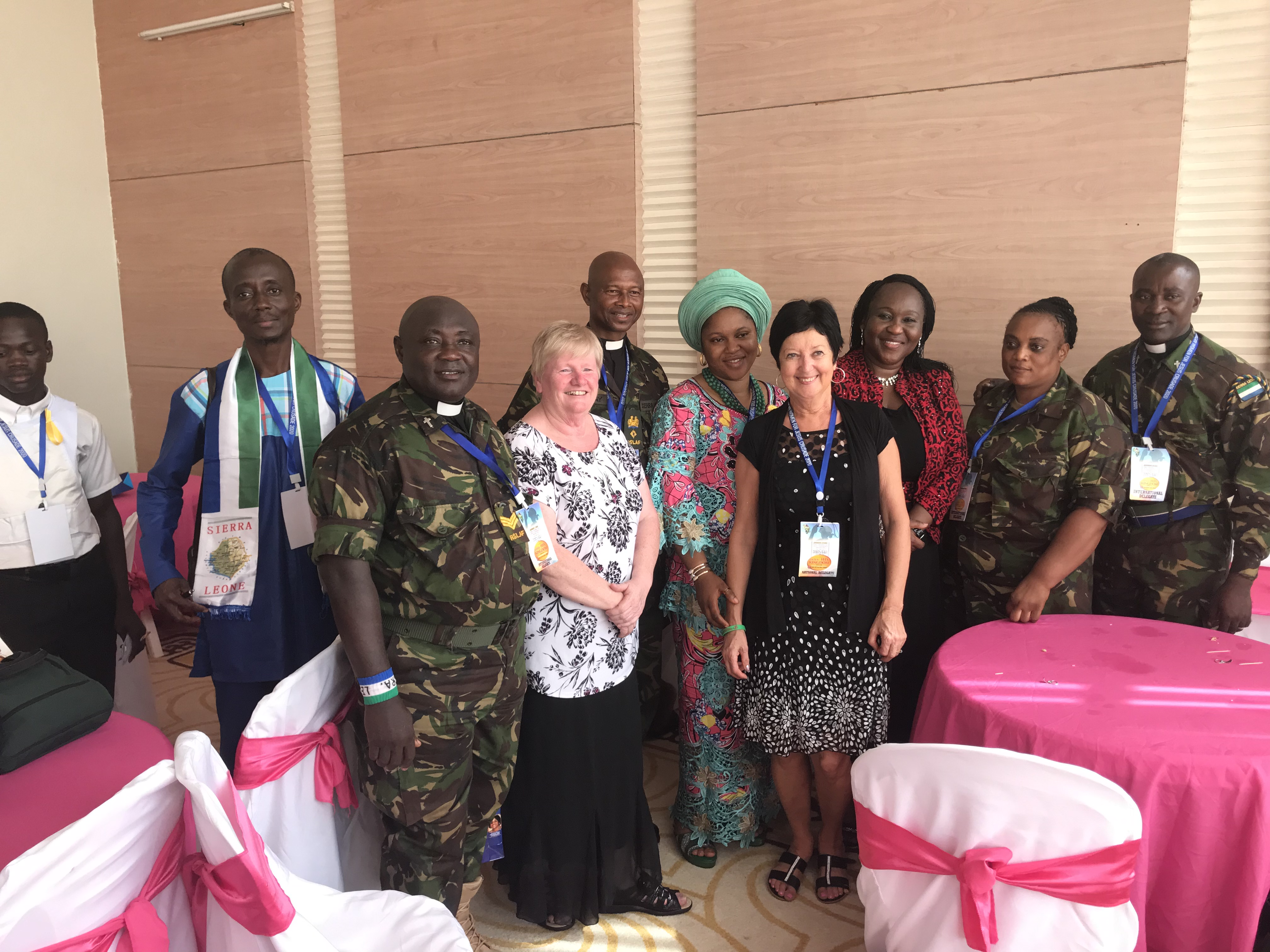 The Chaplain for the entire Military of Sierra Leone was at this conference,