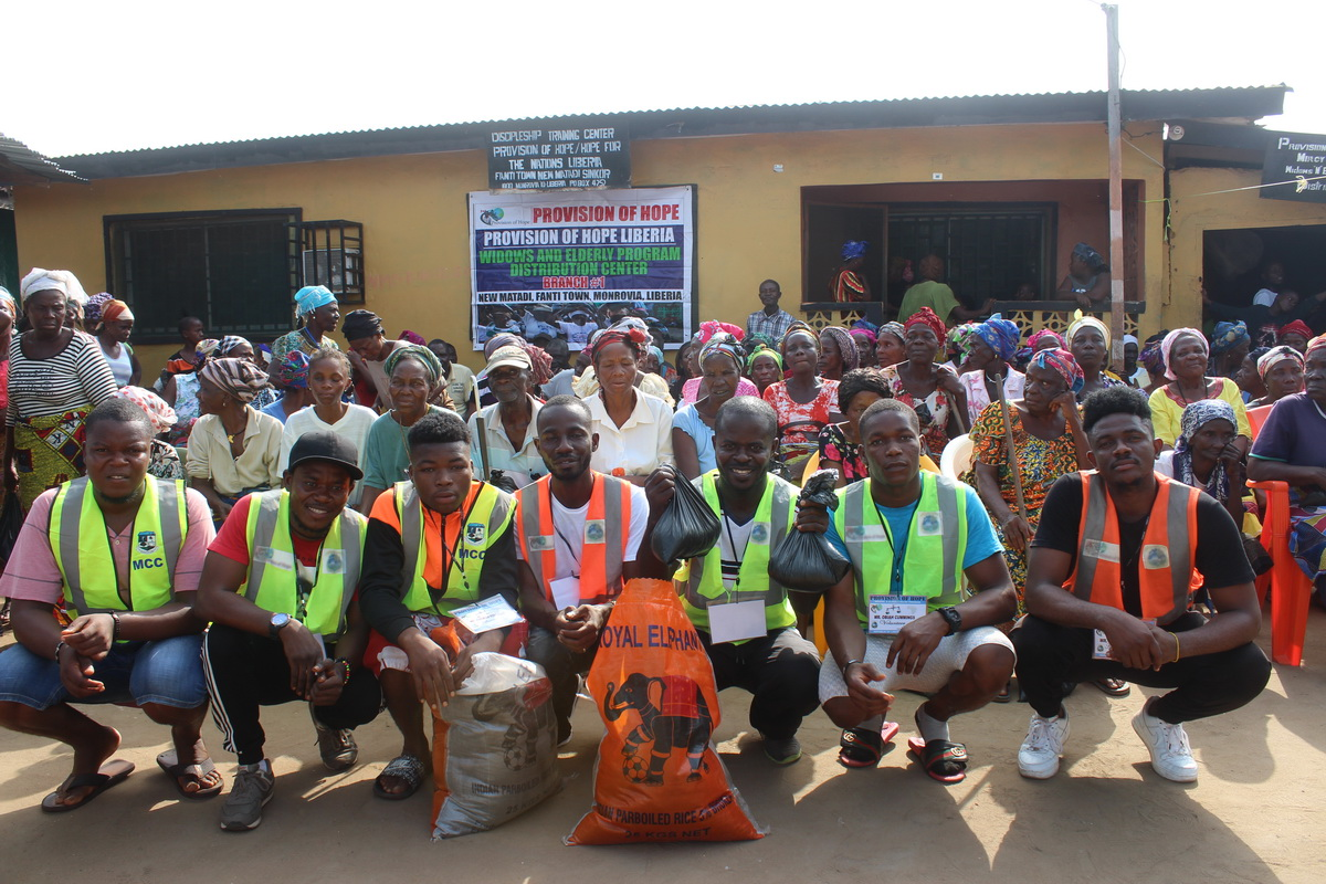 We have a team of six volunteers who help Daniel Coleman distribute rice to over 100 widows.