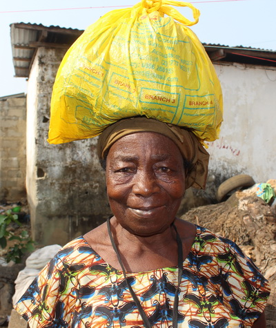 One of our dear widows ready to go back home.    The photos below are ones we took in February.