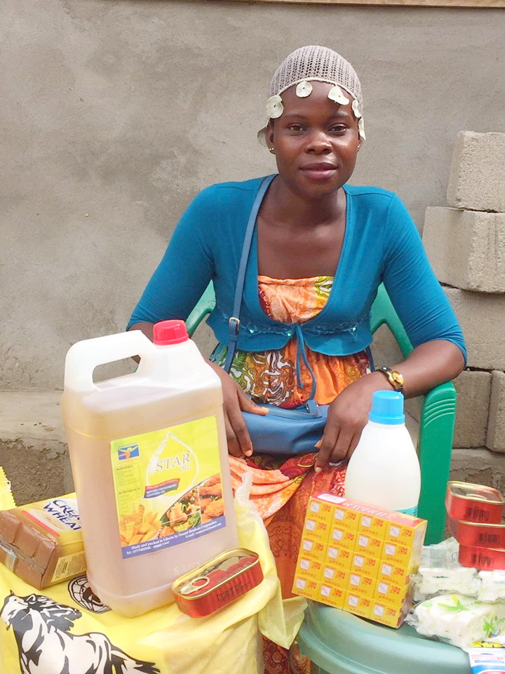 As we have funds we continue to purchase supplies for those in our family who are most desperate. Tenneh is a young widow of 3 children. We empowered her too for business, but right now she is not selling.