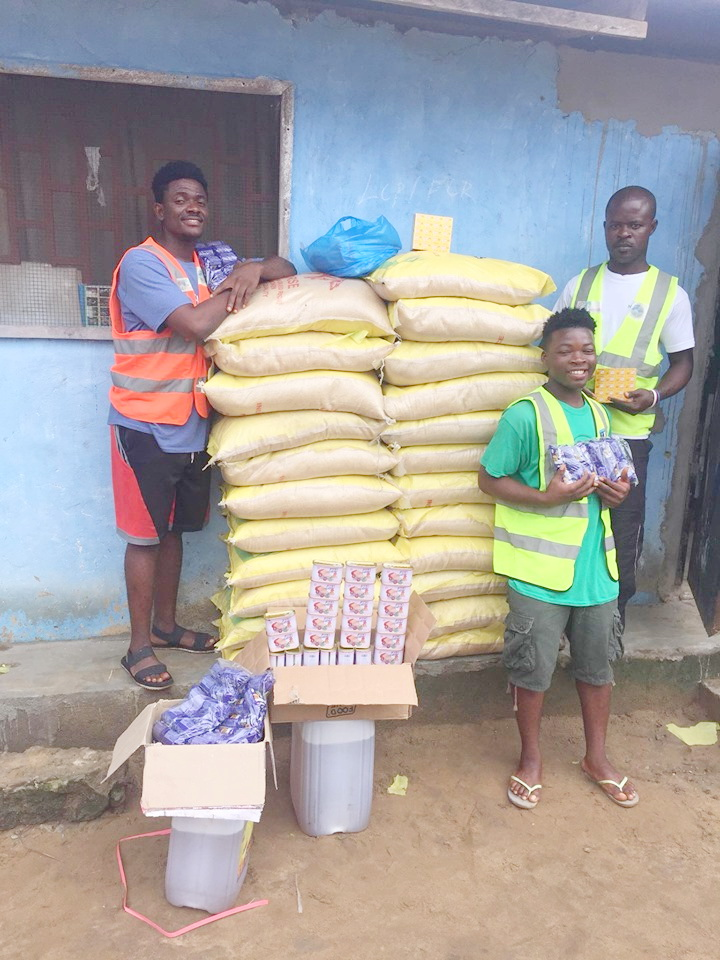 We purchased 23 bags of rice, tins of chicken, vegetable oil, biscuits for the children and vita cubes. For the smaller families the rice could last up to 7 days.