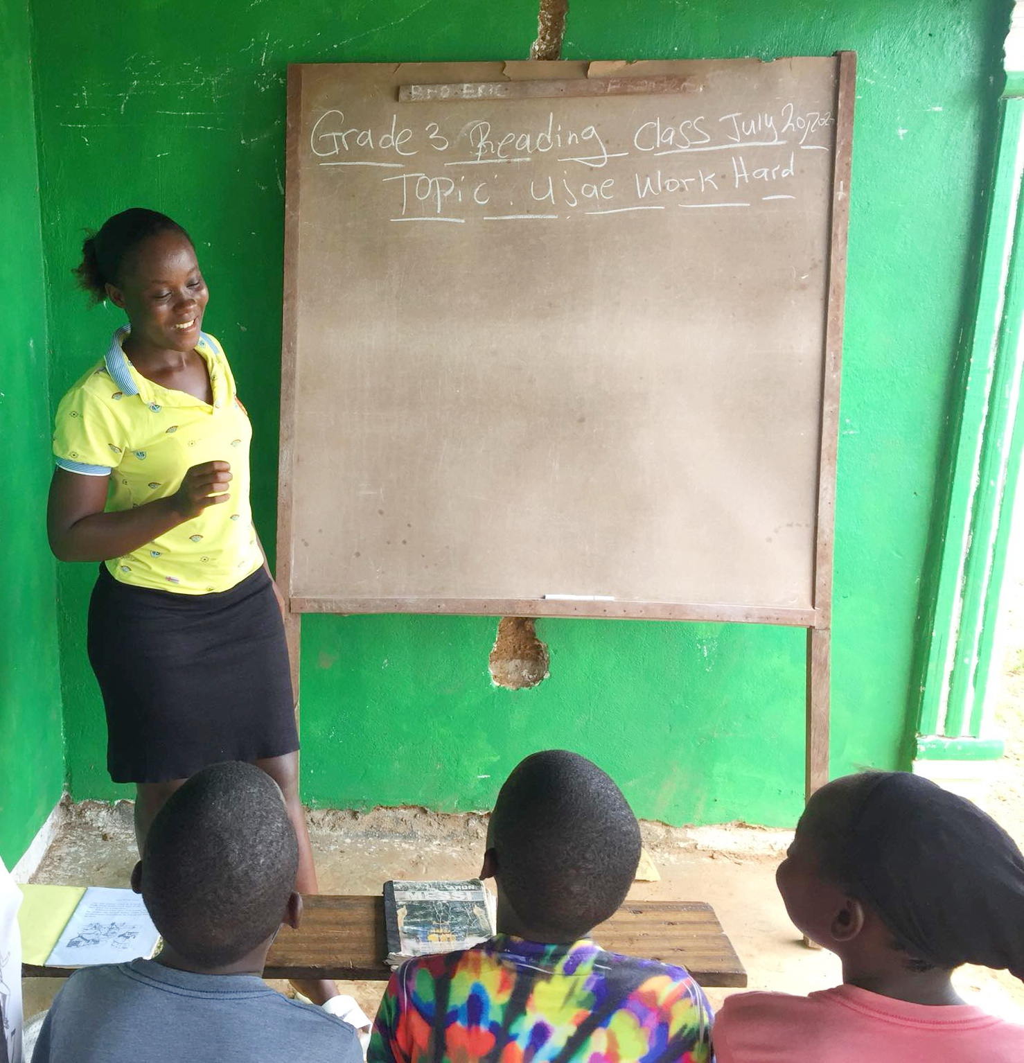 Dabopillar will be in Grade 12 this year. She is teaching the Grade 3 students.