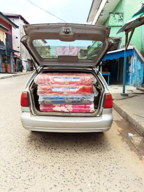 These are the 4 new mattresses we purchased for the children at Dapae and Rita's home.