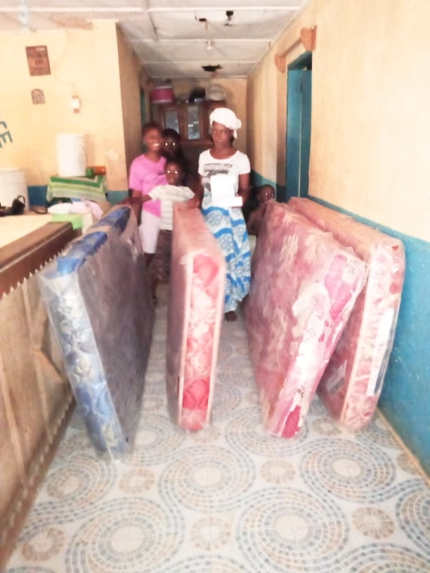 What a blessing to have these 4 new mattresses.  WE hope to purchase 6 more, so that all the children have a new mattress before Christmas!