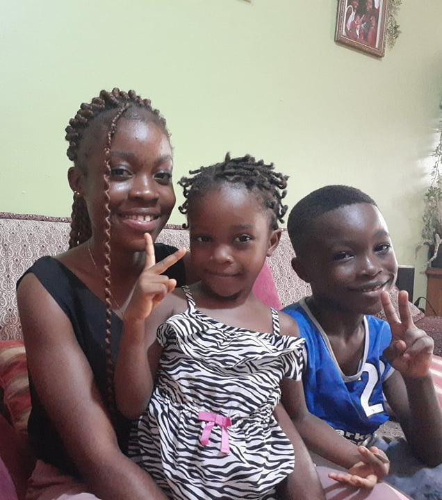 Sandra is the oldest daughter she starts Gr. 12 this year.  Next is Charles in Gr. 2 and Saline in preschool.  They are a very happy family!!