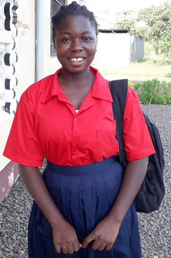 Theresa is in Gr. 10 this year.  She is so happy that schools are finally opening!