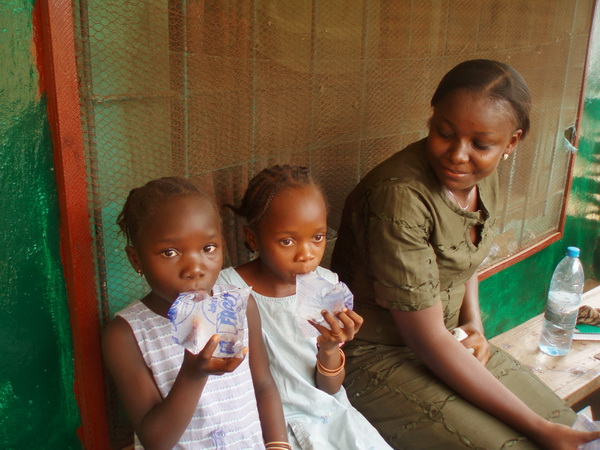 Nancy is the one who brought Teta and Esther from their village in 2008.