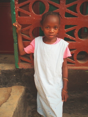 This was Teta on the day she came from her village to live with the Keita Family.