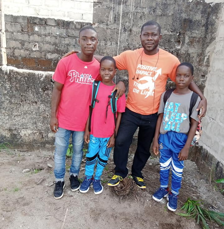 This is Daniel with his boys.  Isaac is in Gr. 11.  The twins Shadrach and Meshach are in Grade 5.  Daniel is a wonderful dad both to his own family and the surrounding community.