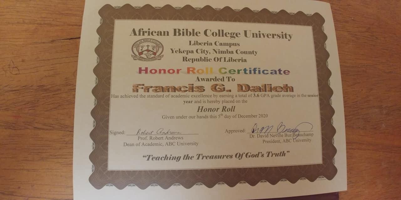 Francis your grades were excellent!  Good Job!