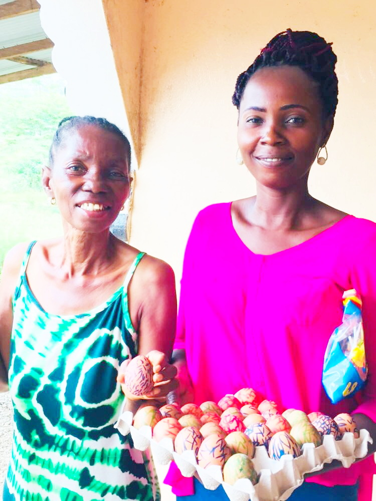 Even Ma Esther joined in the fun with her daughter Agnes who has been a BIG HELP with the children since Ma Esther's stroke.