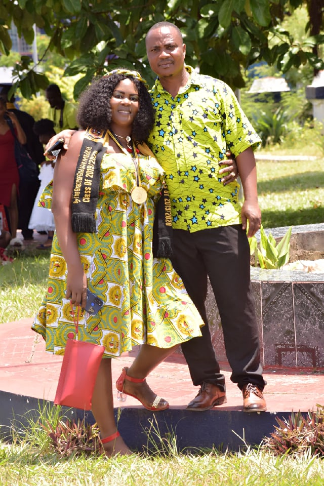 Benjamin and Angie were married in Ghana while Benjamin was attending school there.  They came back to Liberia in 2011.  Benjamin is a university professor and was Malcolm Harris our Country Director's Business Statistics Instructor at St. Clements University!  He says he knows Malcolm well.