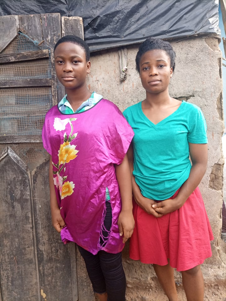Blessing is 17 in Gr. 10 and Rebecca is 19 in Gr. 11. They are hoping to finish their school year in Monrovia.