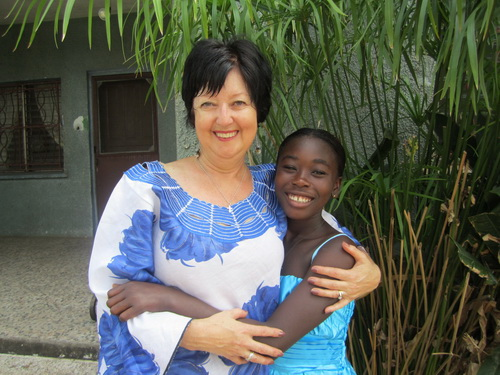 Every trip to Liberia, Lemu would spend days with me and I would take her out for ice cream! Those were precious times!
