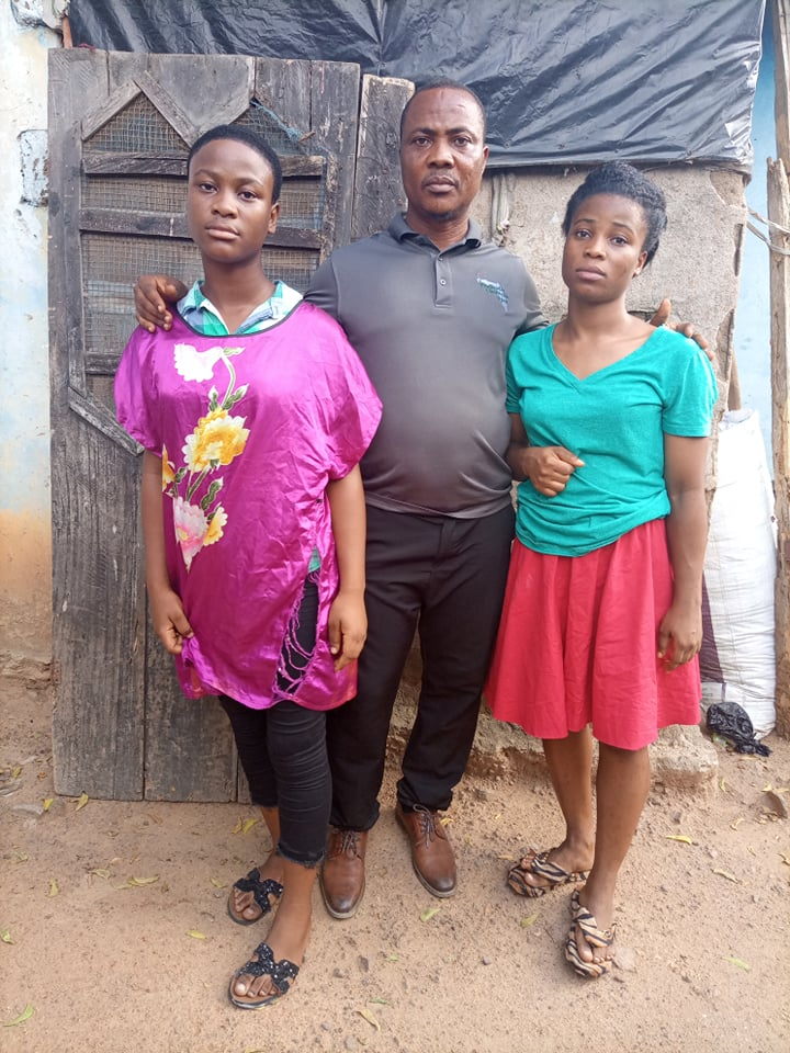 Uncle Benjamin Zeagben flew to Ghana from Monrovia to be with his two nieces and to bring the body of his sister back home.  What an honorable act of kindness.