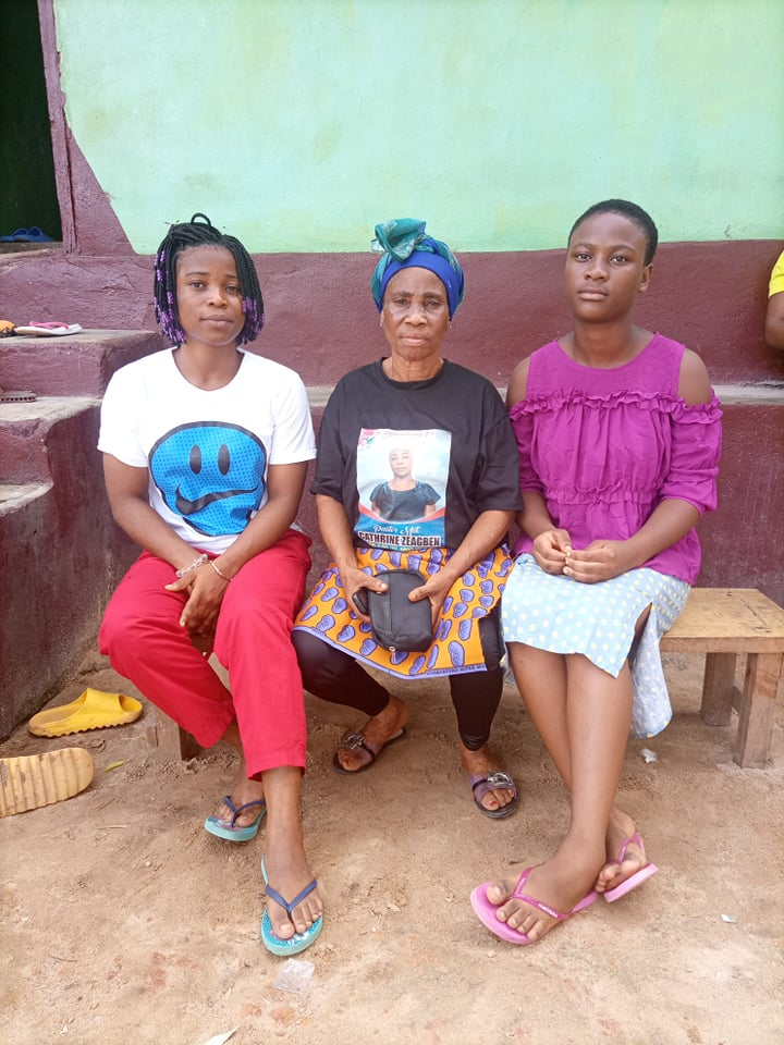 Blessing and Rebecca went to visit their Grandma in Nimba for 2 weeks.  It was very important to Grandma to have the girls stay with her for a time.
