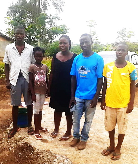 John and Korpu have 4 children, Joseph, Henry, Solomon and Melissa.  Joseph is older and stayed at the place they moved from.