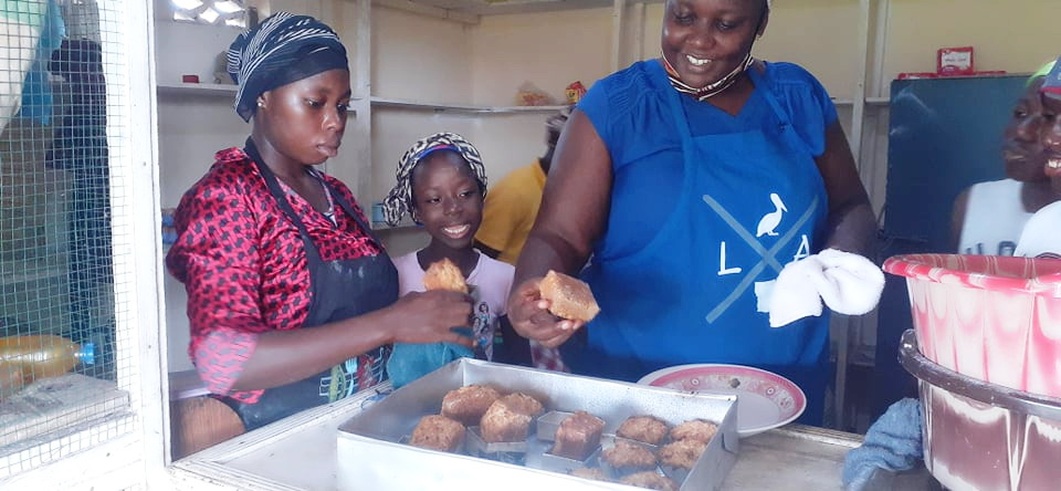 Nancy Hoff attends a baking school and has been training the children how to bake all kinds of pastries and breads. They are getting ready to sell to the community now!